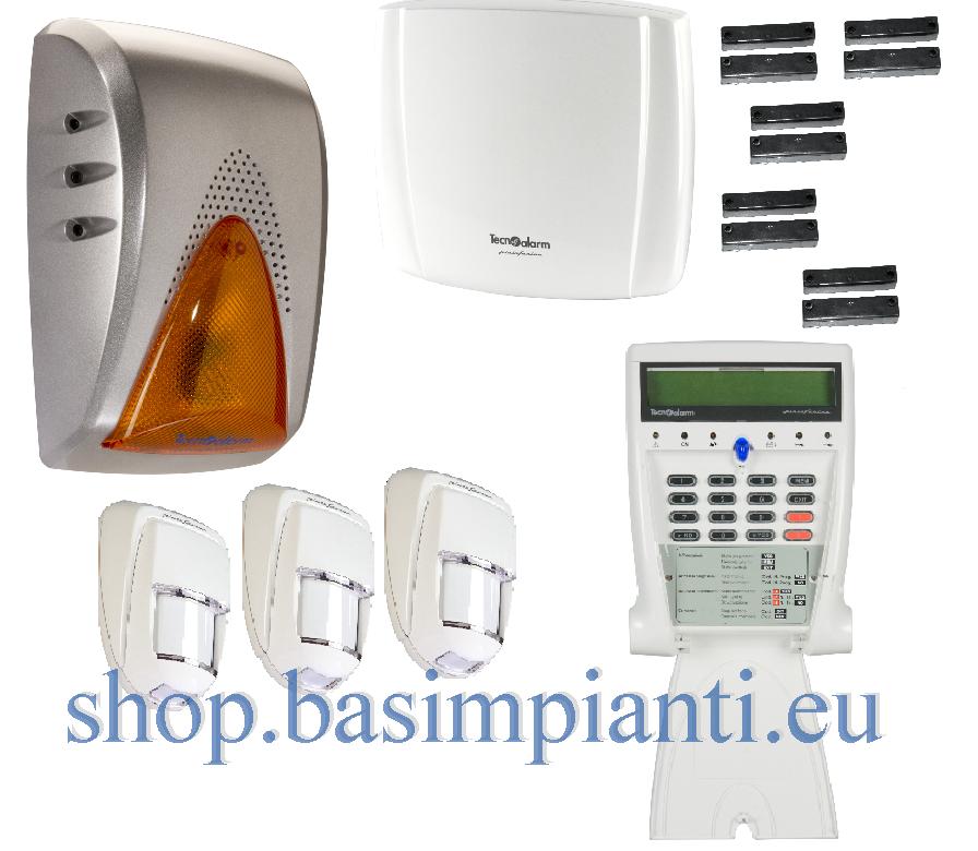 Impianto Antifurto Tecnoalarm Kit Esclusive con TP4-20 GSM/V
